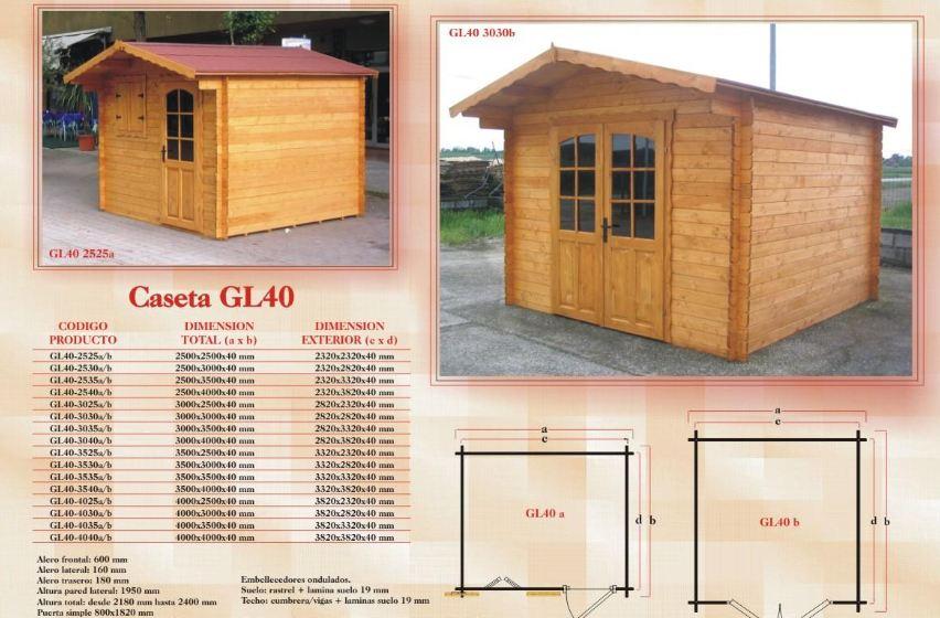 Caseta de madera c diz barata en varias medidas desde 1995 for Casas de jardin de madera baratas