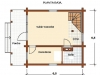 CA95CA plano  6,5 X 6,5 + porche = 95 m2