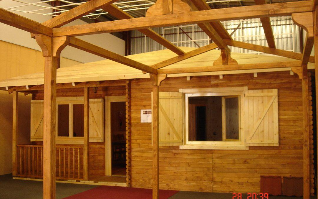 Casa de madera Sevilla nueva a estrenar de 60 m2 – con tejado a 4 aguas.